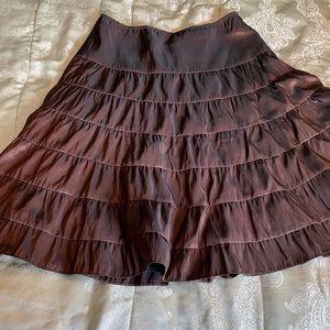 A-Line Taffeta Skirt